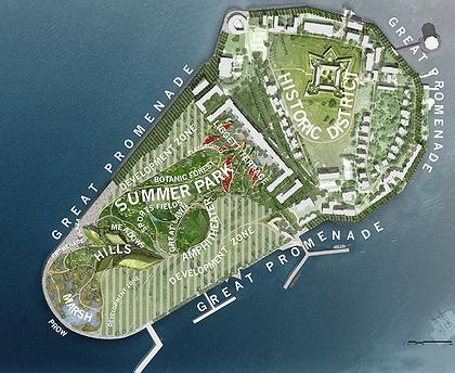 Парк Говернорс-Айленд. План