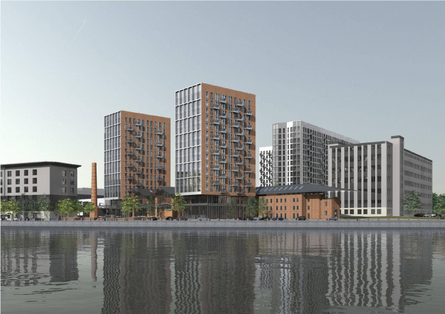 Project of the multi-functional residential complex on the Paveletskaya Embankment. Designer: Sergey Skuratov Architects. Customer: Moscow Printing and Publishing Intergrated Works.