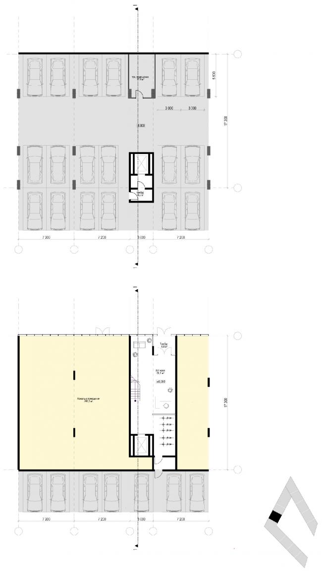 План секций. Жилой дом «Премиум»- класса. Концепция многофункционального жилого комплекса с объектами социальной инфраструктуры © АБ «Остоженка»