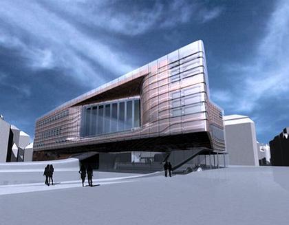 Концертный зал  в Базеле: проект Захи Хадид 2004 г.