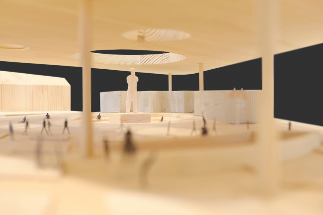 "Pavillion between the ostozhenka and Prechistenka. Model 2014. Volkhonka Quarters – Culture Territory – Volkhonka Archive. Architectural and town-planning survey © ""Ostozhenka"" Bureau"