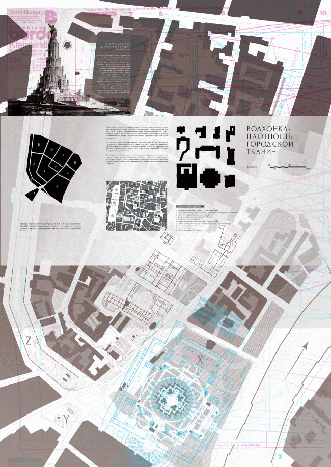 "Boards at ""Zodchestvo-2014"". Volkhonka Quarters - Culture Territory - Volkhonka Archive. Architectural and town-planning survey © ""Ostozhenka"" Bureau"
