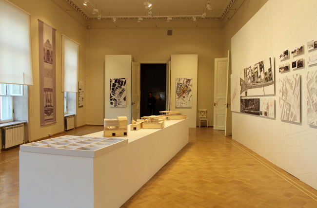 """Exhibition in the Museum of Architecture, May 2014. Volkhonka Quarters - Culture Territory - Volkhonka Archive. Architectural and town-planning survey © """"Ostozhenka"""" Bureau"""