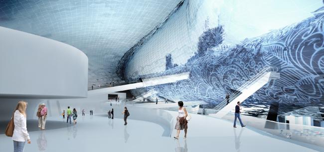 Музей Гуггенхайма в Хельсинки. Конкурсный проект © Мастерская «Четвертое измерение»