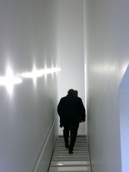 Новый музей современного искусства. Лестница между третьим и четвертым этажами