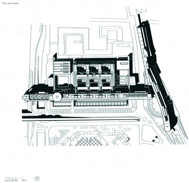 Генплан двух главных корпусов © Paul Chemetov, Borja Huidobro