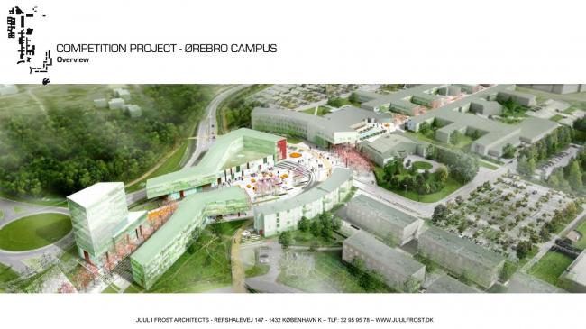 Университетская площадь в Эребру. Изображение предоставлено VELUX