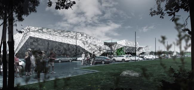 Многофункциональный торговый комплекс «Пять планет» © Архитектурная мастерская Тотана Кузембаева