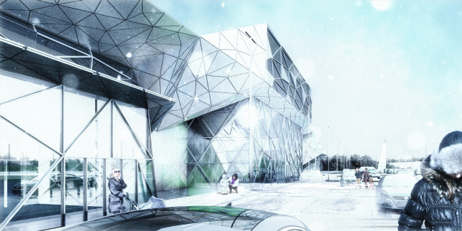"""Multifunctional retail center """"Five Planets"""" © Totan Kuzembaev Architectural Studio"""
