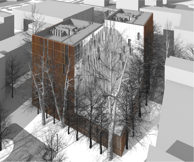 South facade, birds's height view © Sergey Skuratov ARCHITECTS