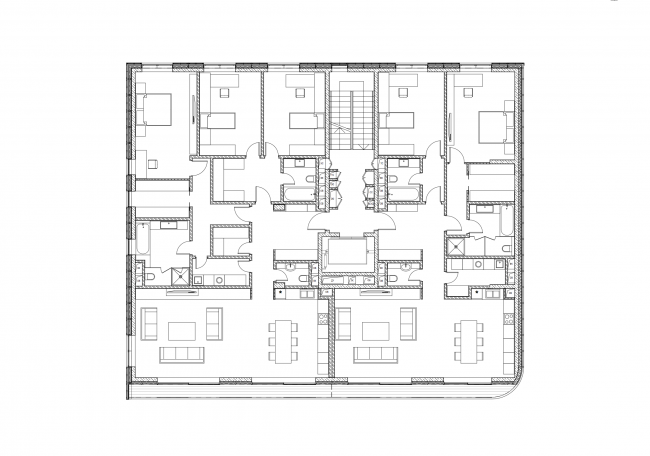 Plan of apartment section 1 © Sergey Skuratov ARCHITECTS