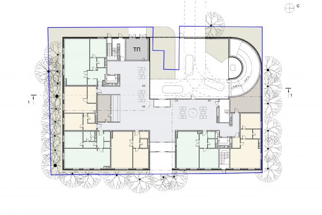 План 1 этажа © Сергей Скуратов ARCHITECTS