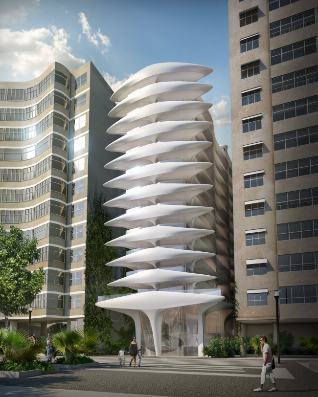 Жилой дом Casa Atlântica © Zaha Hadid Architects