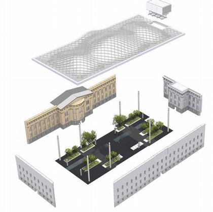 Смитсоновский Музей - внутренний двор. Проект