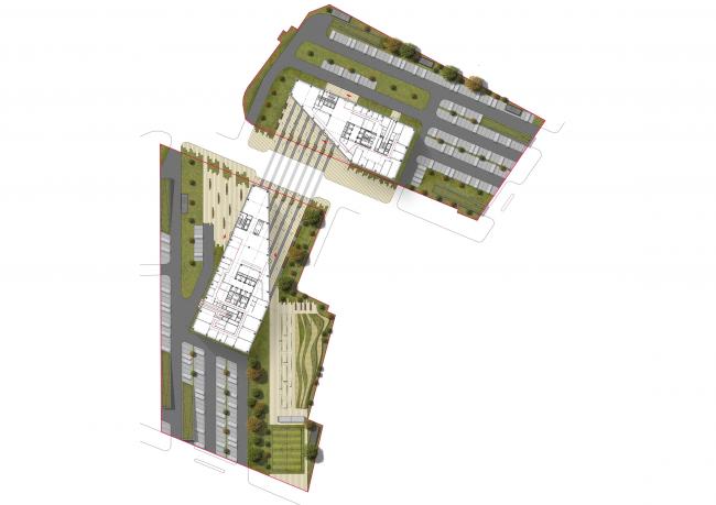 Концепции штаб-квартир компаний «Спортмастер» и «O'stin». Авторы: Aukett Swanke