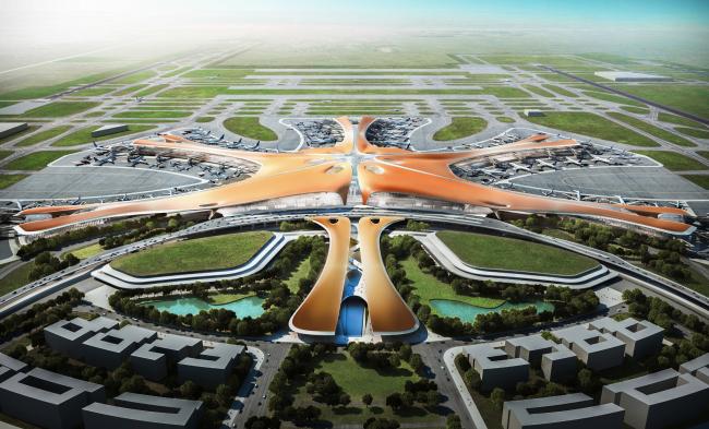 Терминал Нового Пекинского аэропорта © Zaha Hadid Architects