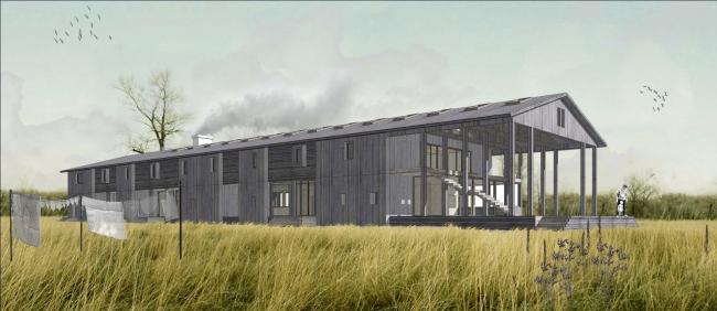 Бюро Александра Бродского. «Дом фермера»; Никола-Ленивец. Проект, 2014 © Бюро Александра Бродского
