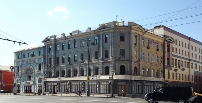 Главный фасад. Проект. «Электротеатр Станиславский». 2014 © Wowhaus