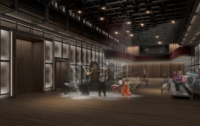 Основной зал, проект. «Электротеатр Станиславский». 2014 © Wowhaus