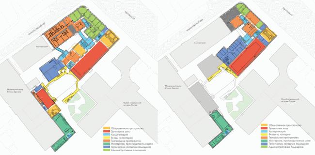 Планы 2 и 3 этажей. «Электротеатр Станиславский». 2014 © Wowhaus