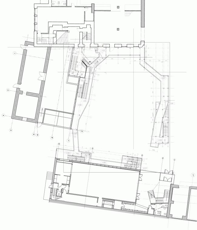 Планы строения 2, 3 и галерей двора. «Электротеатр Станиславский» © Wowhaus