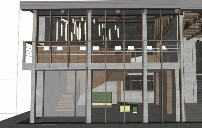 Фойе малой сцены, проект. «Электротеатр Станиславский». 2014 © Wowhaus