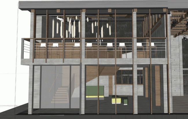 """Foyer of the minor stage. Project. """"Electrotheater Stanislavsky"""". 2014 © Wowhaus"""