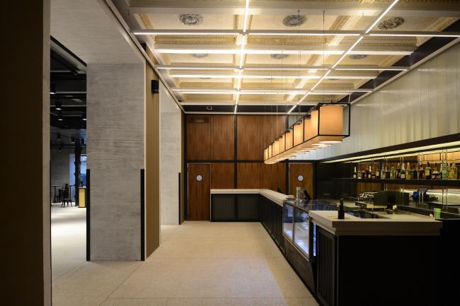 "Foyer and bar ""Noor"". ""Electrotheater Stanislavsky"". Photo © Ilia Ivanov, 2014"