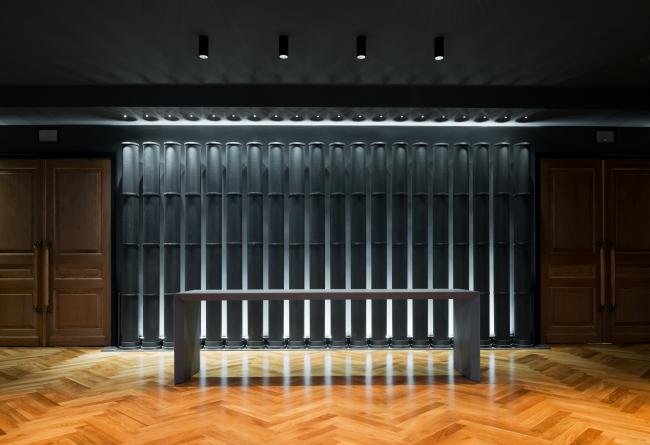 "Entrance to the main hall. ""Electrotheater Stanislavsky"". Photo © Ilia Ivanov, 2014"