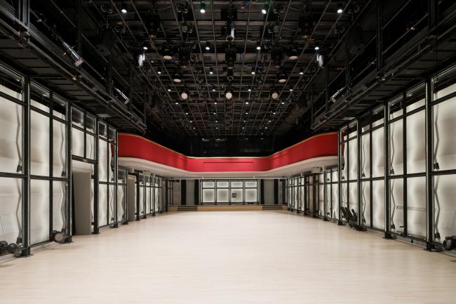 "Main stage (main hall) with the restored balcony. ""Electrotheater Stanislavsky"". Photo © Ilia Ivanov, 2014"