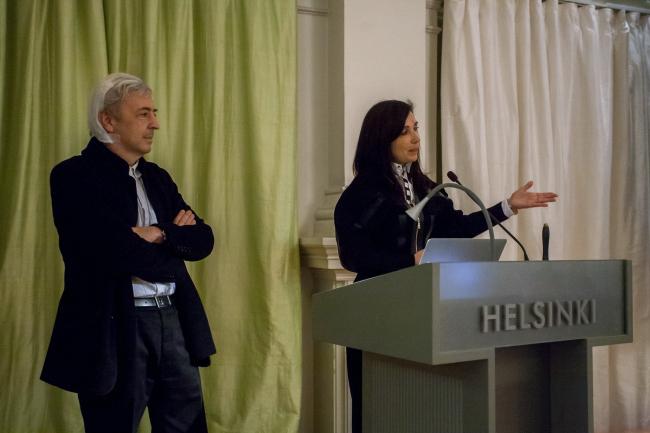 Церемония вручения медали в Ратуше Хельсинки. Энрике Собехано и Фуэнсанта Ньето. Фото © Juho Haavisto & MFA. Предоставлено MFA