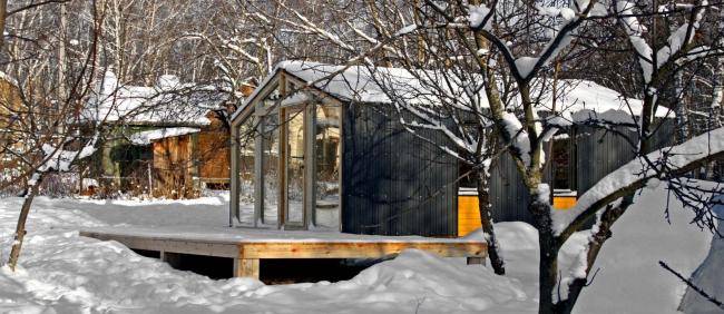 В застройке гостевого поселка в Кольцово также планируется использовать модульные «Дубль дома» Ивана Овчинникова © Bioarchitects, 2013