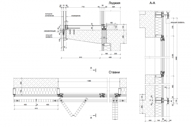 Details of the facade: structure of the blinds © Sergey Skuratov ARCHITECTS