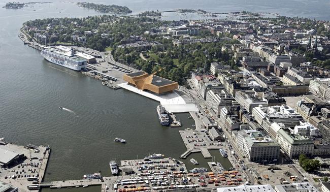 Музей Гуггенхайма в Хельсинки, конкурсный проект, 2014. Общий вид © ДНК аг