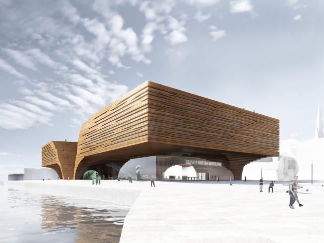 Музей Гуггенхайма в Хельсинки, конкурсный проект, 2014. Вид с набережной © ДНК аг