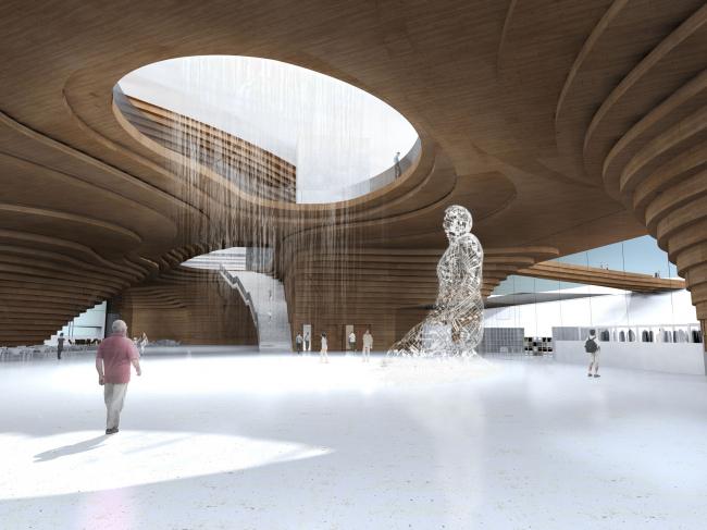 Guggenheim Museum in Helsinki. Lobby interior © DNK AG