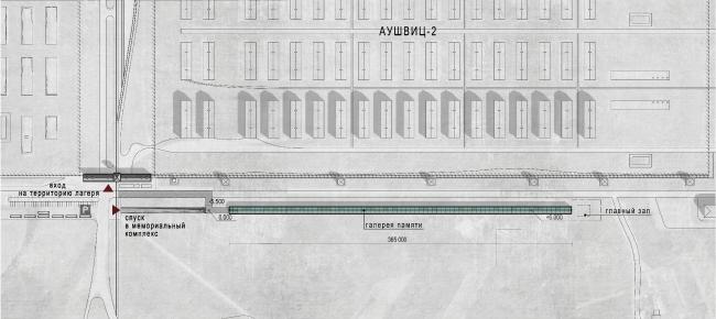 Мемориальный комплекс Освенцим.План © Arch group