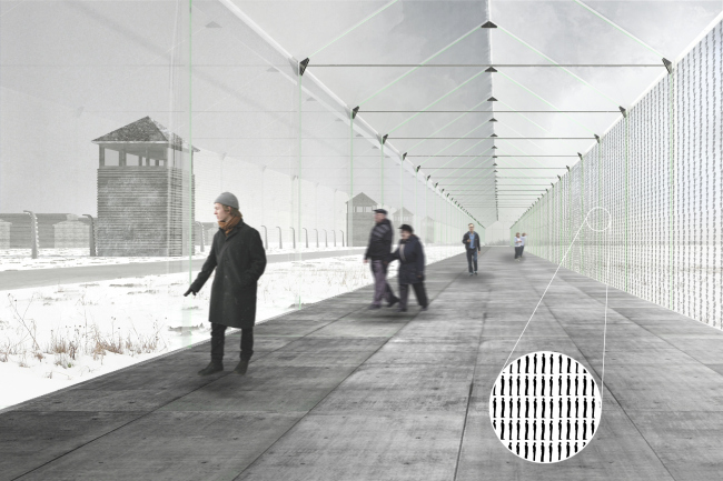 Auschwitz Memorial Complex. Memory Gallery © Arch group