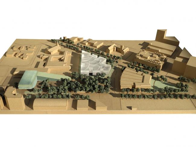 Хьюстонский Музей изобразительных искусств–реконструкция. Общий вид кампуса. Предоставлено  Steven Holl Architects