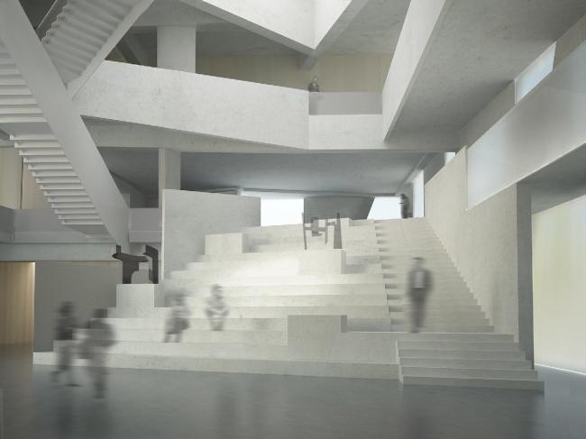 Хьюстонский Музей изобразительных искусств–реконструкция. Школа искусств Гласселл.Предоставлено  Steven Holl Architects