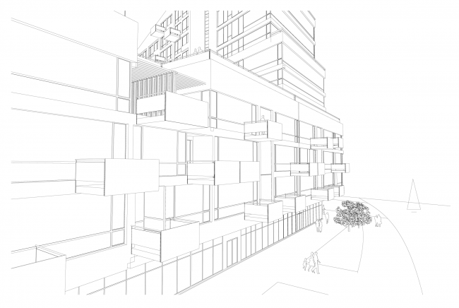 Объемно-планировочная организация жилого квартала. Концепция многофункционального жилого комплекса с объектами социальной инфраструктуры © АБ «Остоженка»