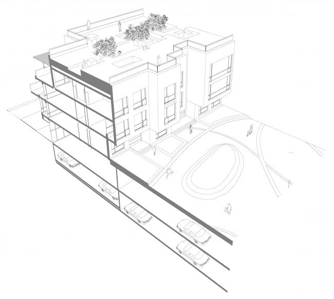 Жилой дом «Премиум»- класса. Концепция многофункционального жилого комплекса с объектами социальной инфраструктуры © АБ «Остоженка»
