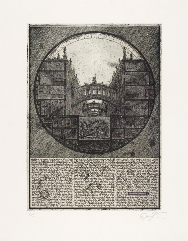 Untitled. 1995. Etching © Alexander Brodsky