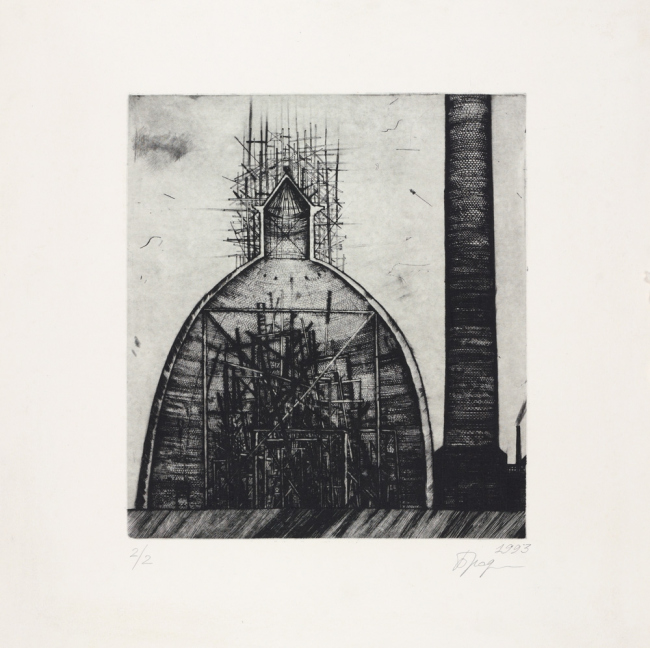 Untitled. 1993. Etching © Alexander Brodsky