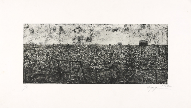 Convergence points. 1997. Etching © Alexander Brodsky