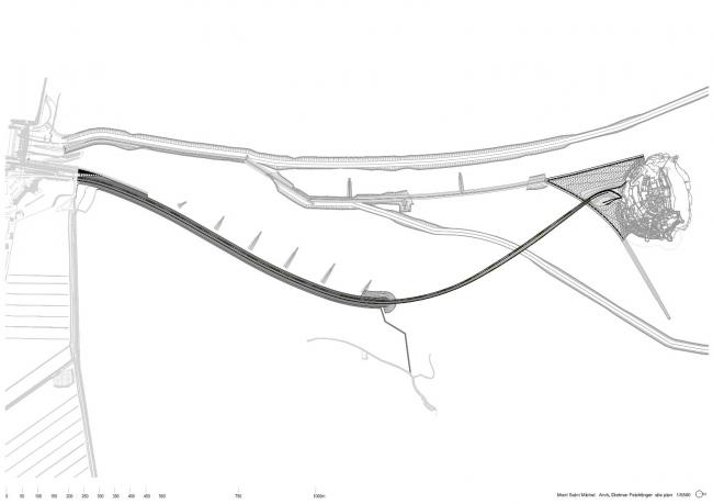 Мост и пирс острова Мон-Сен-Мишель © Dietmar Feichtinger Architectes