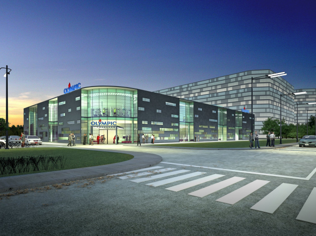 "Sports and Recreation complex © ""A.Len"" Architectural Bureau"