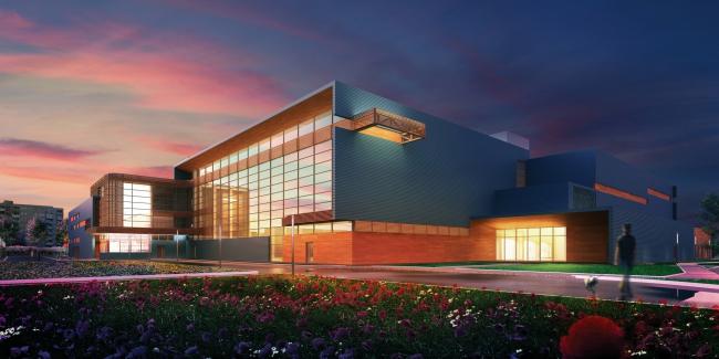 Детско-юношеская спортивная школа «Мегамейд» © Архитектурное бюро «А.Лен»