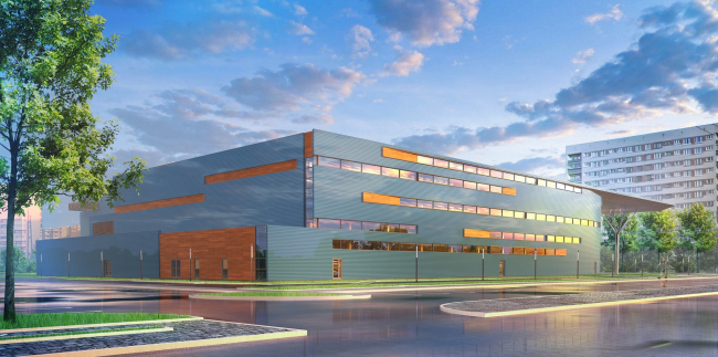 "Youth Sports School © ""A.Len"" Architectural Bureau"