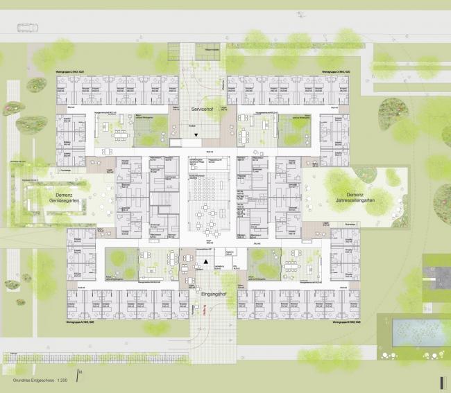 Дом престарелых имени Петера Розеггера © Dietger Wissounig Architekten